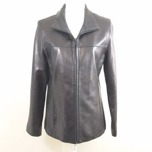 Andrew Marc New York Black Leather Jacket Womens M